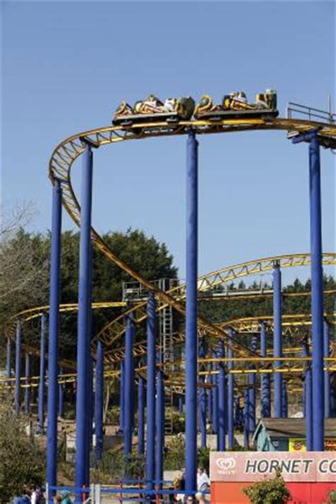 the roller coaster at flambards theme park near helston demon dropslide picture of flambards theme park helston