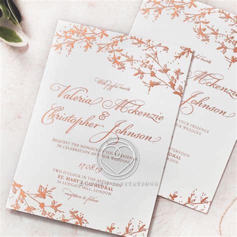 Garden Wedding Invitations by Enchanting Garden Foiled Design Wedding Invitation