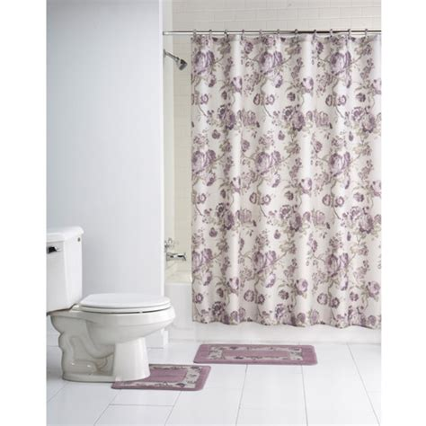 Bathroom Shower Curtain Sets Chelsea 15 Bath Set Walmart