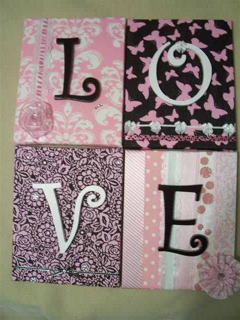 fabric crafts canvas fabric covered canvas with wooden letters wall hanging