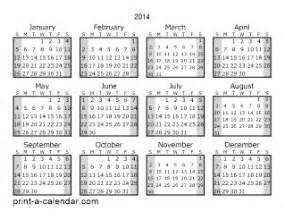 Download 2014 printable calendars