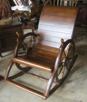 kursi goyang roda jati jepara kg 01 bahan kayu jati jepara wantonella furniture jepara