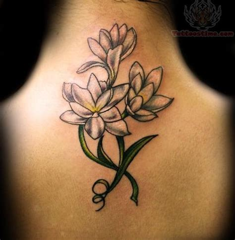 girly back tattoos flower feminine on back