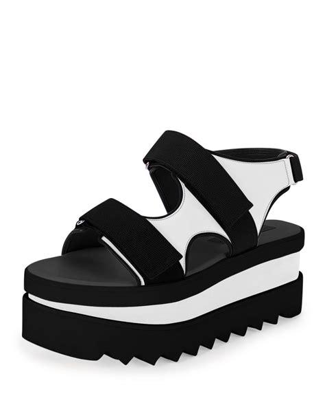 stella mccartney slingback platform sandals in black