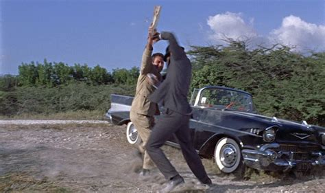 Dr No Bond Car by Bond S Gray Flannel Suit And 57 Chevy In Dr No Bamf Style