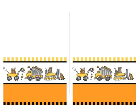 Construction Themed Birthday Card Template by Construction Birthday With Free Printables How To