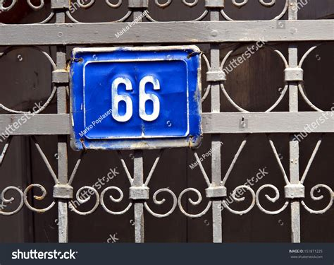 Number Plate Address Finder Sixty Six House Address Plate Number Stock Photo 151871225