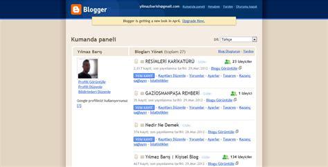 blogger ne demek blogger eski ve yeni kumanda paneli nedir ne demek