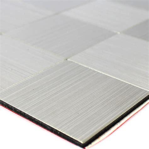 fliesen verlegen preis ohne material selbstklebendes metall edelstahl mosaik fliesen silber ebay