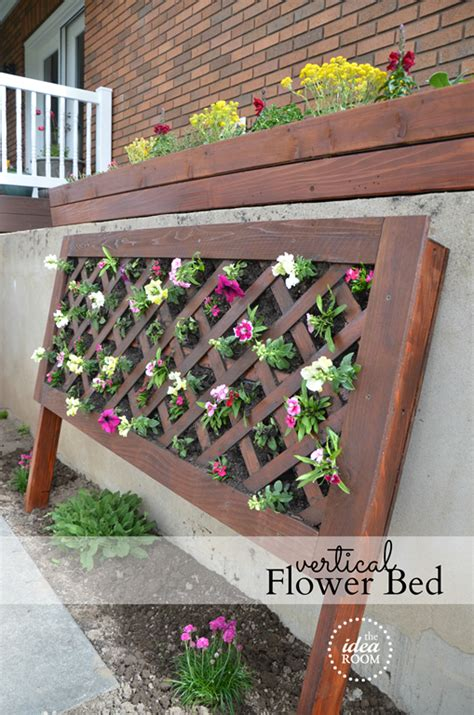 diy flower bed diy vertical flower bed the idea room