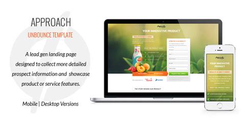 Approach Lead Gen Unbounce Template By G10v3 Themeforest Lead Generation Page Template