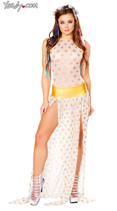 Set Humairha Maxi Syari light up white and gold sequin romper set mesh sequin romper sheer bodysuit sequin