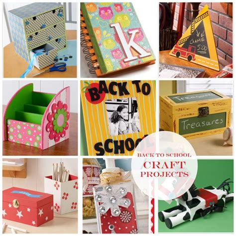 easy craft ideas for at school back to school craft project ideas diy crafts