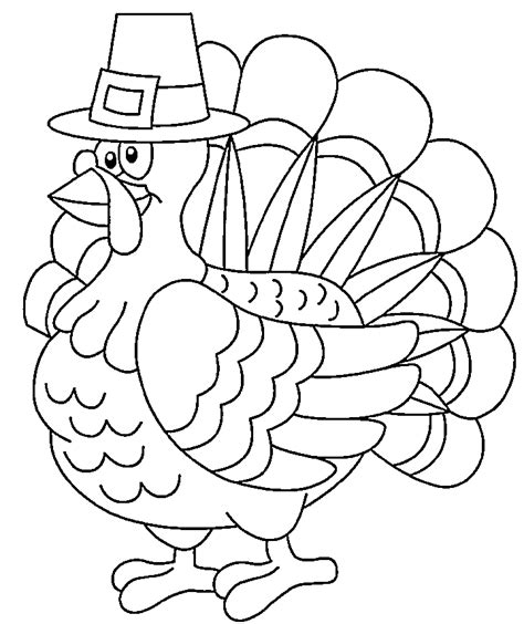 printable picture of a turkey to color thanksgiving turkey coloring pages to print for kids