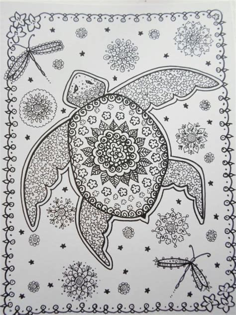 turtle coloring book for adults stress relieving coloring book for teenagers advanced coloring pages detailed pages therapy meditation practice books coloriage livre tortues coloring book vous 234 tre l artiste