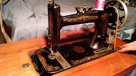 serviced antique new home series a treadle sewing machine