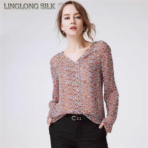 Chiffon Blouse Import 100 No Replika 3 aliexpress buy silk chiffon blusas 1808 100 mulberry silk chiffon fabric shirts