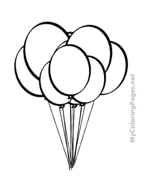 free coloring pages of heart balloons