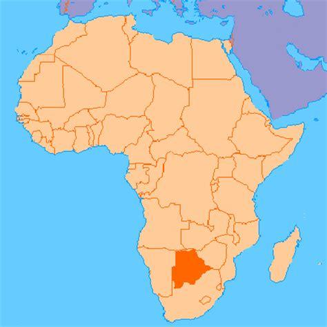 africa map botswana botswana