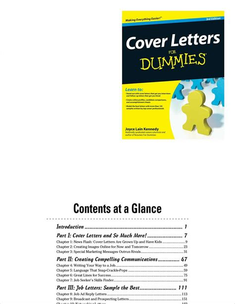Cover Letters For Dummies 3rd Edition Ebook E Book cover letters for dummies 3rd edition free sle