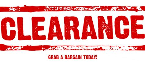 clearance sale clearance sale