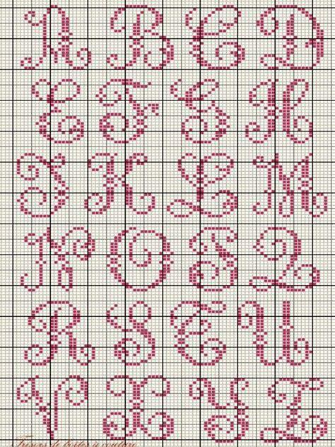 punto croce lettere punto croce schema alfabeto semplice sul filo di