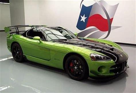 green and black viper export used 2010 dodge viper srt 10 green on black