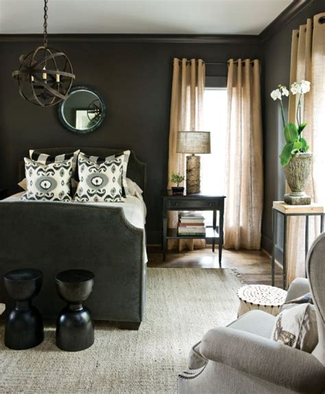 Soothing Master Bedroom Paint Colors - dark and surprisingly soothing bedroom walls