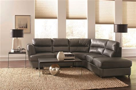 coaster leather sectional chaisson grey leather sectional by coaster 500036