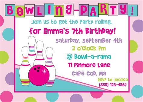 free birthday invitations with photos free printable bowling invitations