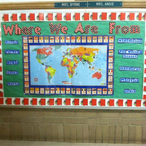 themes for english class where we are from esl bulletin board i don t care for