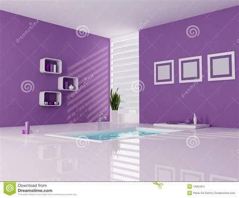 purple and white bathroom purple and white minimalist bathroom stock image image 14301811