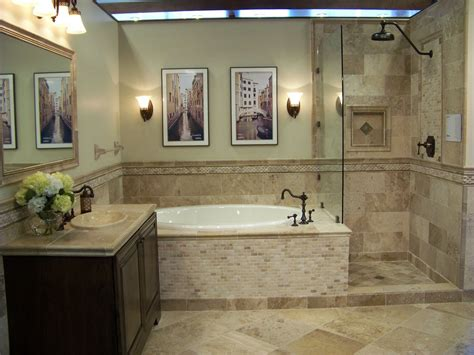 Bathroom Travertine Tile Design Ideas by Travertine Bathroom Floor Tile Designs Mixture Of