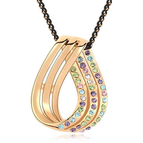 from jewelry necklace knot pendant gold plated