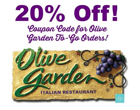 olive garden coupon discount code olive garden coupon code 20 off to go orders