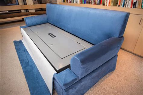 couch gun safe couchbunker bulletproof couch with gun safe hiconsumption