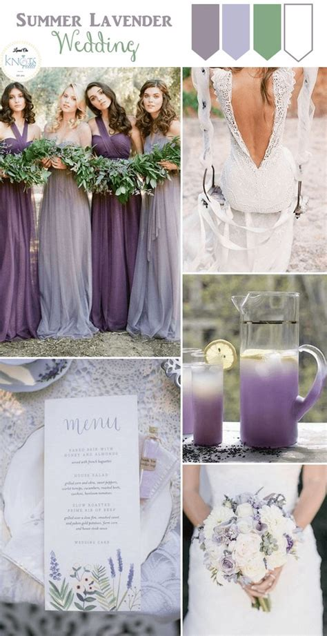 wedding colour themes spring and summer brides lavender weddings lavender and wedding inspiration on