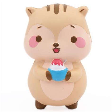 Squishy Hk 1 brown squirrel animal scented squishy popularboxes hk kawaii animal squishy squishies
