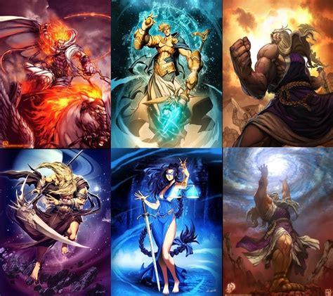 imagenes mitologicas de dioses espacio literario mitologia griega el origen del universo