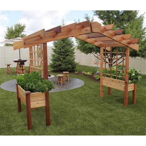 costco planter box pergola design ideas pergola kits costco gronomics deluxe pergola planter green grass create