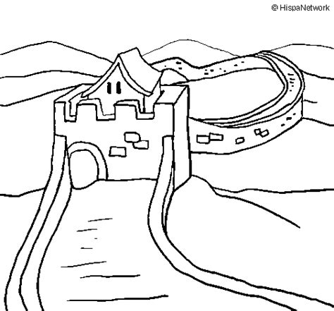 the great wall of china coloring page coloringcrew com