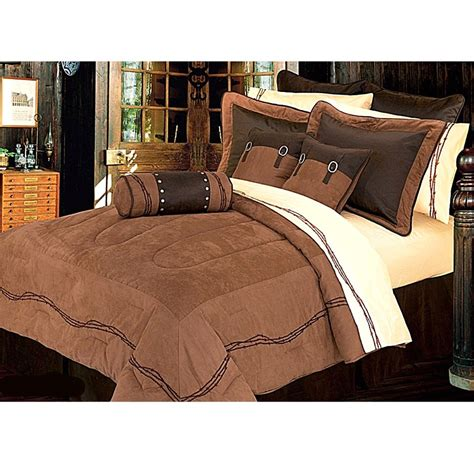 western comforter set ranch barbwire western bedding comforter dark tan