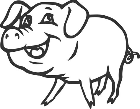 pig clipart black and white pig clipart black and white clipart panda free clipart