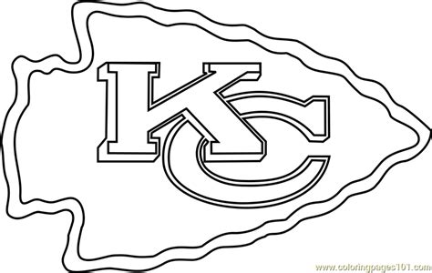 kansas city chiefs logo coloring page  nfl coloring