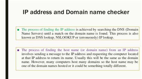 Lookup Ip Address From Url Ip Address And Domain Name