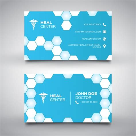 medical card section contact number blue medical card with hexagons vector free download