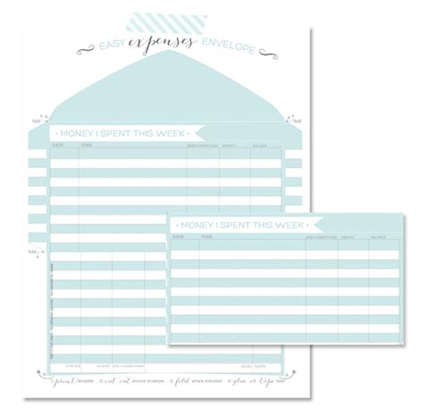 boring but big template tracking your expenses printable expense tracker oh my