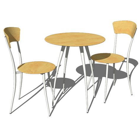 tables and chairs adesso cafe table and chairs 3d model formfonts 3d
