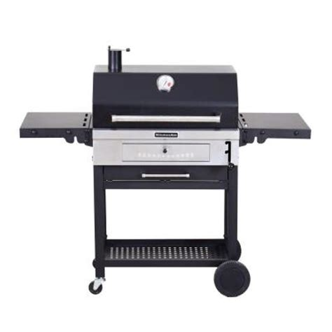 Kitchenaid Grill Warranty Kitchenaid Cart Style Charcoal Grill In Black 810 0021