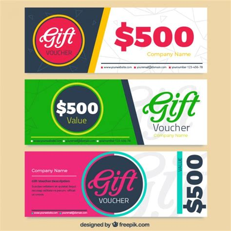 discount voucher pack vector free download